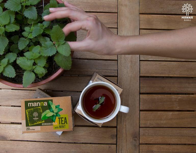 zielona herbata z miętą