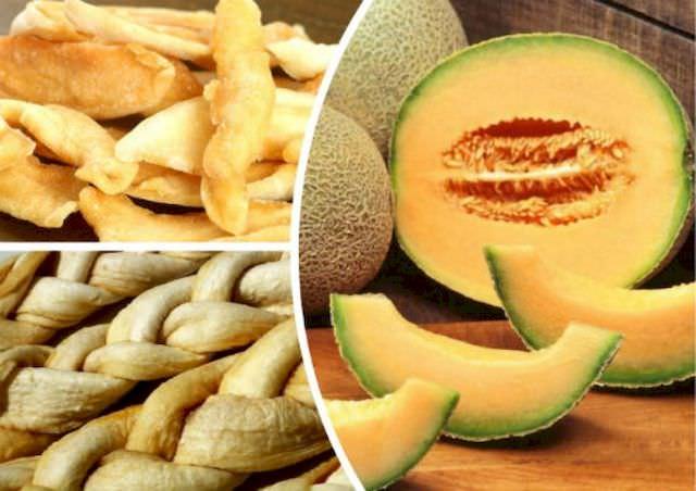 Suszone owoce bez cukru, suszony melon
